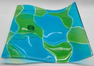 blauw groene golf schaal 2